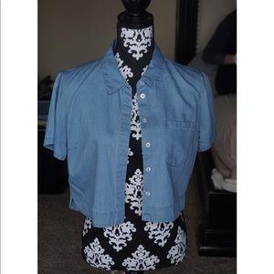 Blue jean cardigan